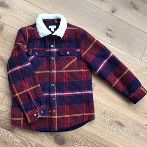 Like new Cat&Jack quilted flannel jacket sz 8/10
